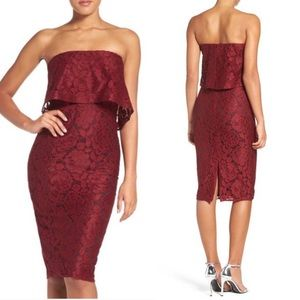 Likely Driggs Lace Midi Dress